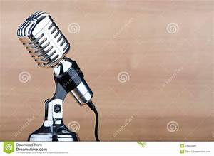 Vintage Microphone On The Background Stock Photos - Image ...