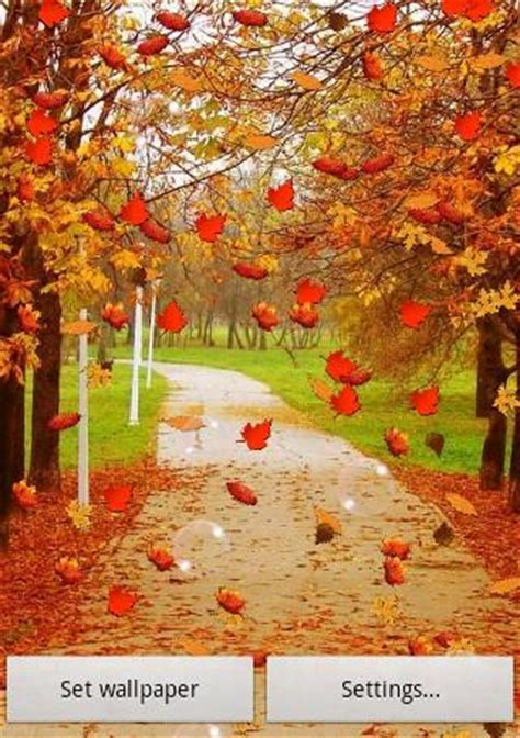 Falling Leaves Live Fall Backgrounds by Autumn Live Wallpaper Free Gallery