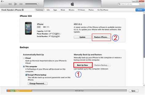 how to back up iphone to itunes restore data from iphone backup