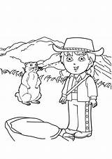 Diego Go Coloring Pages Adventure Colouring Netart Print sketch template