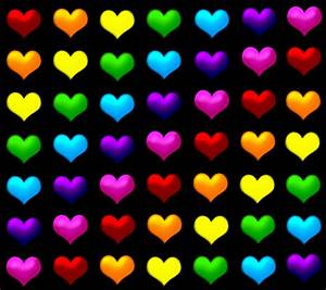Colorful Hearts Design Colorful Background Wallpapers ...