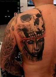 Best Half Skull Ideas And Images On Bing Find What Youll Love
