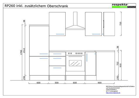 Küche Oberschrank Höhe by Respekta L Form K 252 Che Eiche Grau Weiss Hg Oberschr 228 Nke