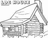 Coloring Log Cabin Pages Printable Jawar Colorings Coloringway sketch template