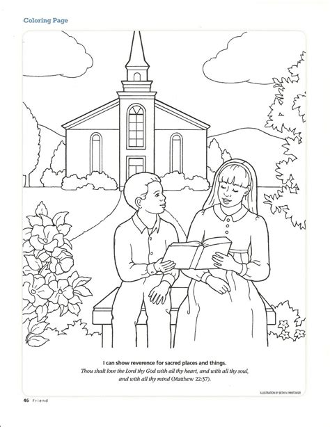 primary  manual lesson  worshiping  church journal page coloring page fr desenhos