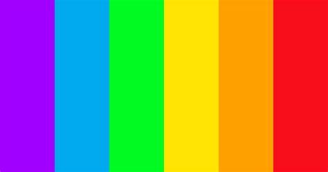 Vivid Rainbow Color Scheme » Blue » SchemeColor.com