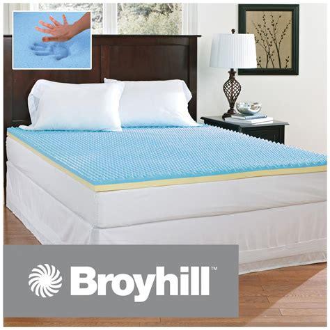 gel memory foam mattress topper broyhill sensura gel enhanced 2 quot memory foam mattress