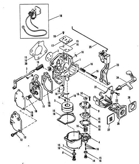 mercury marine xd hp carburetor mercury  mariner
