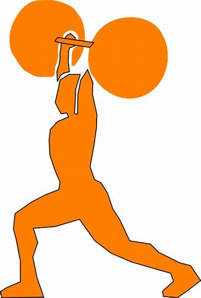 Weightlifter Orange Clipart Weightlifting Powerlifting Clip Vector