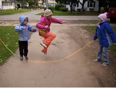 Kids Playing Jump Rope...