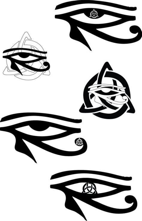 Celtic Eye Of Horus Tattoos By Ravenhartstock On