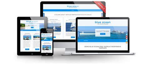 blue stork template joomla 3 blue ocean free joomla 3 8 template joomla templates
