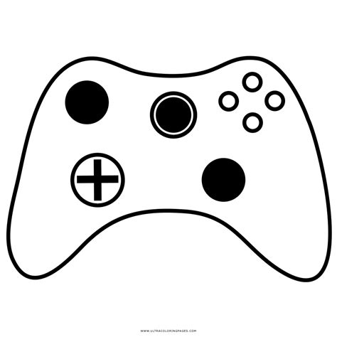 xbox  controller coloring page sketch coloring page