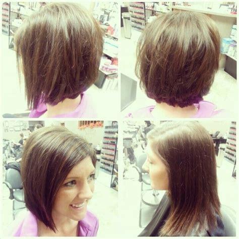 Angled Bob Haircut Before and After
