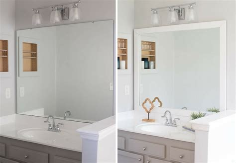 Framing Bathroom Mirrors Diy by How To Frame A Bathroom Mirror Easy Diy Project