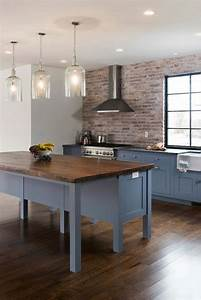 Blue kitchen cabinets contemporary kitchen pinney for What kind of paint to use on kitchen cabinets for large wall panel art