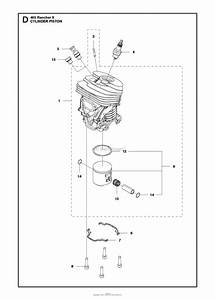 Husqvarna 465 Rancher Ii Parts Diagram For Cylinder Piston