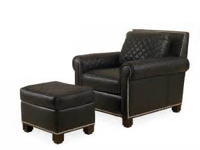 Lyndon, Quilted, Chair, With, Ottoman