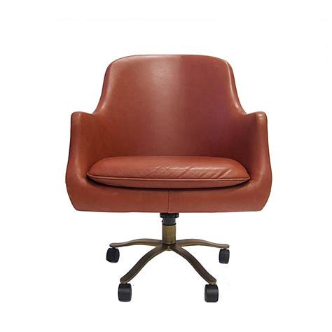 nico zographos leather office desk chair with