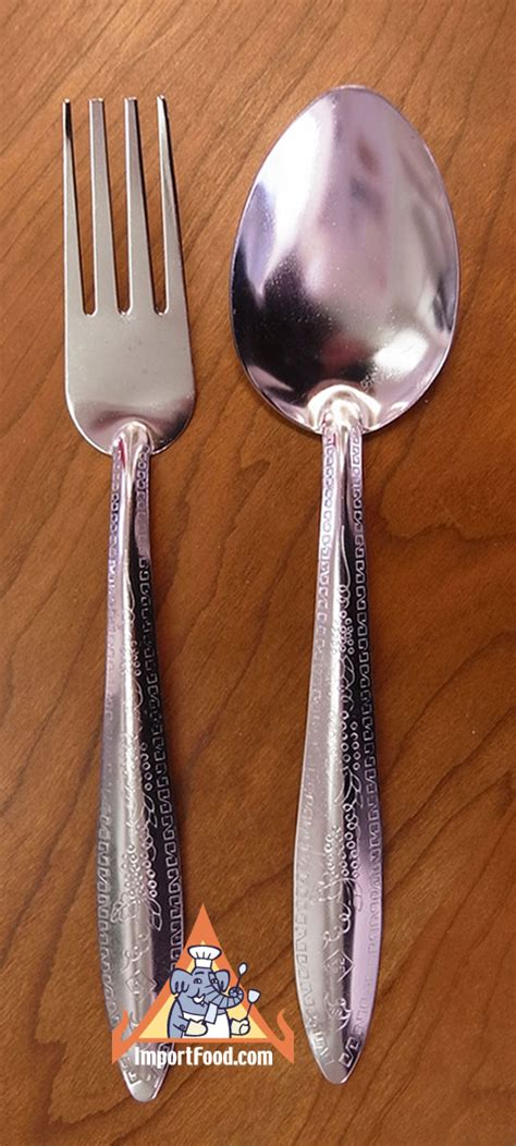 thai spoon fork importfood utensils street cooking vendor
