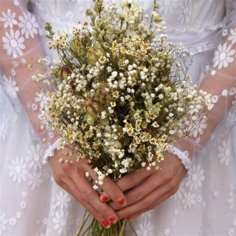 wild meadow dried flower wedding bouquet   artisan