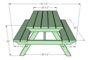plans to build a square picnic table
