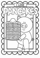 Pancake Printables Coloring Pancakes Preschool Activities Crafts Colouring Pajamas Printable Pajama Posters Letter Much Kindergarten Everyone Celebrate Pig Teacherspayteachers Church sketch template