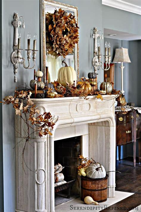 Fireplace Mantel Decor Ideas  Decorating  Thanksgiving