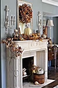 15, Thanksgiving, Mantel, D, U00e9cor, Ideas, For, A, Warm, U0026, Inviting, Fireplace