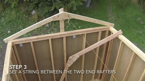 12x16 shed how to build a shed part 7 shed roof framing