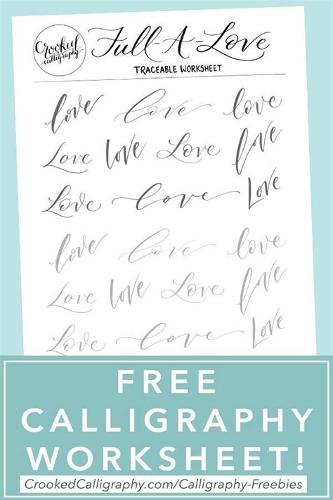 calligraphy worksheets