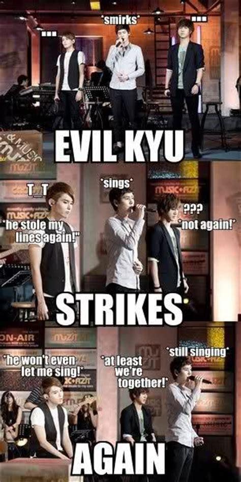 Super Junior Meme - omg kyuhyun cracks me up with his evilness memes xd pinterest super junior funny and haha