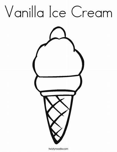 Ice Cream Coloring Vanilla Drawing Cone Built