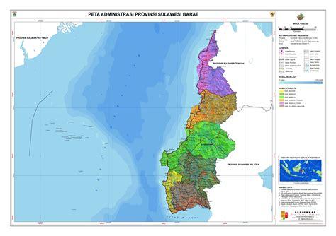 administrasi provinsi sulawesi barat peta tematik indonesia