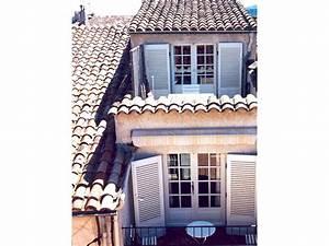 privates ferienhaus maison de village mit dachterrasse With französischer balkon mit markt sonnenschirm 4x4m