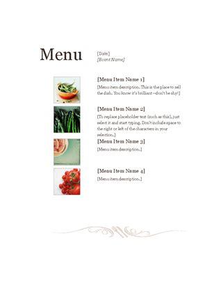 restaurant menu office templates
