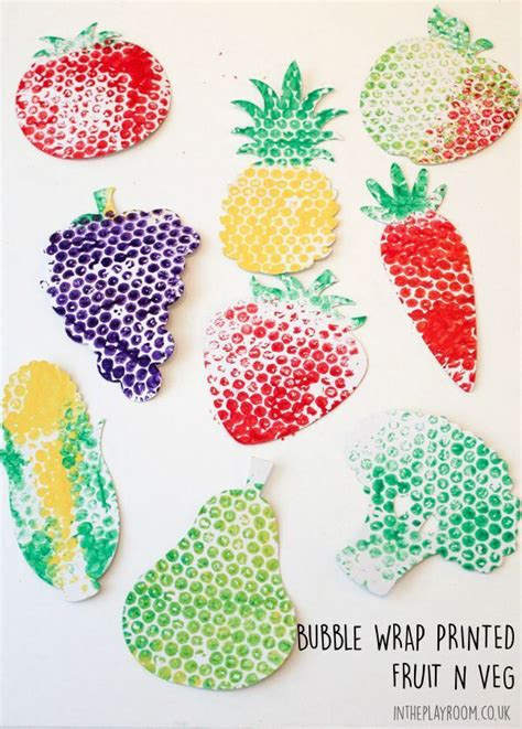 bubble wrap printed fruit veg fruit crafts vegetable