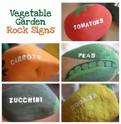 Vegetable Signs Garden Rock Veggie Vegetables Rocks