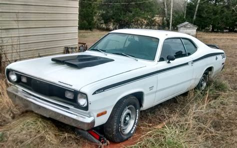 plymouth duster  parked