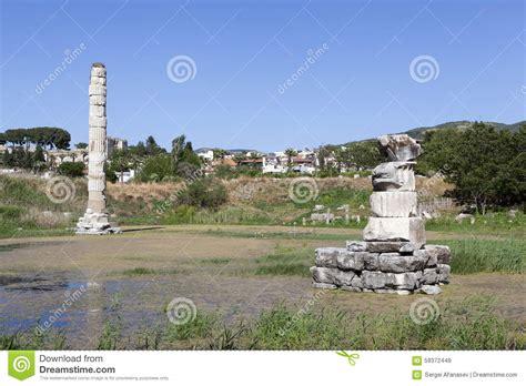 Temple Of Artemis Selcuk Turkey Stock Photo Image