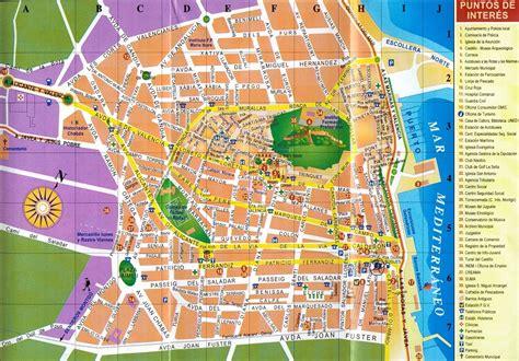 Carte Touristique Centre by Carte Touristique Barcelone Photo Du Monde