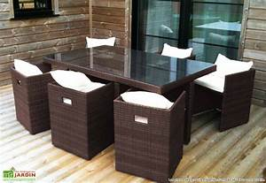Salon Jardin Resine Tressée : ensemble de jardin en resine ensemble table et chaise de ~ Premium-room.com Idées de Décoration