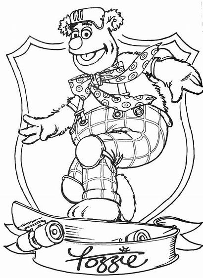 Coloring Muppets Pages Wanted Fozzie Bear Printable