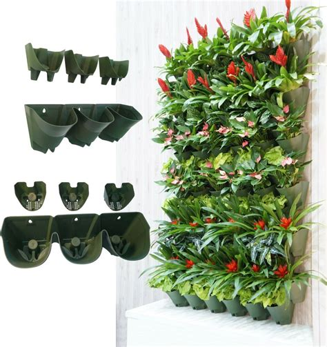 Watering Vertical Gardens by Worth Garden Self Watering Vertical Wall Mounted Planter