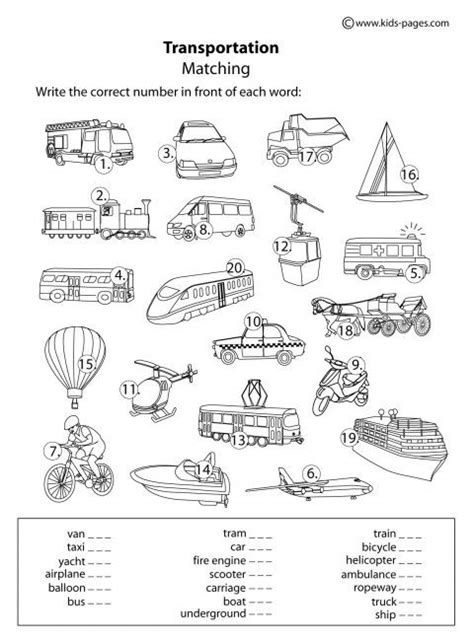 Worksheets On Means Of Transport  Google Search  Worksheets For Primary Pinterest