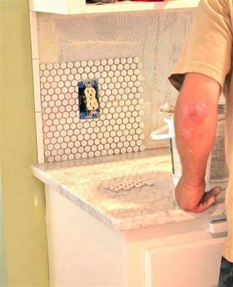 kitchen backsplash penny tile   penny tile cheap