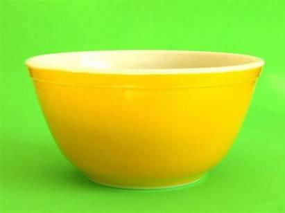 Pyrex Bowls Retro Orange Yellow Funkykoala Mixing