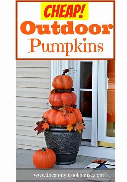Pumpkins Outdoor Diy Cheap Pumpkin Easy Fall