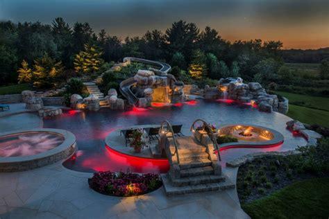 Backyard Pool With Lazy River by More Than A Rivulet Backyard Lazy Rivers Pool Spa News