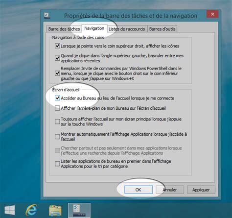 bureau windows 7 sur windows 8 1 windows 8 1 comment démarrer sur le bureau et retrouver